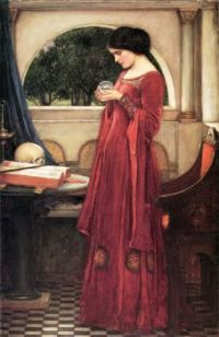 """The Crystal Ball"" (1902) by John William Waterhouse."