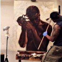 Kevin WAK Williams at His Easel