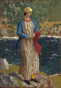 'Woman by a Riverbank' - Augustus John (1879-1961)