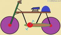 Wobblybear Creations 079 - A bicycle made for one (smaller version)