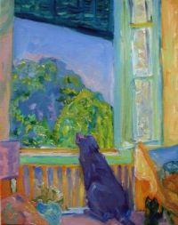 Pierre Bonnard - looking out the cabin window