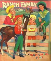 Themes Vintage illustrations/pictures - Ranch Family Paper Dolls 1957