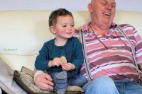 Making Grandad laugh