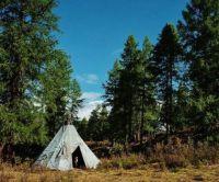 The Dhuka sleep in tepee-like tents known as ortz.