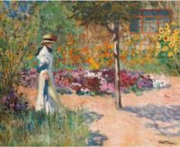 """Elegance in the Garden""-Louis-Abel Truchet"
