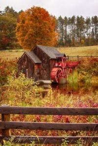 Autumn - Old Crawford Farm Grist Mill, New England