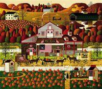 Charles Wysocki Fall Pumpkins