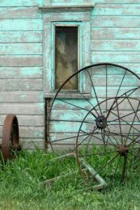 Barn with old equipment
