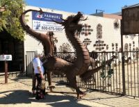 Temecula Dragon sculpture and Friend_Oct 2019