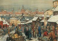 Appolinary Vasnetsov. The Novgorod marketplace. 1909