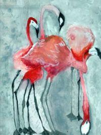 Flamingo quartet