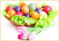 Easter Eggs on a Lettuce Nest
