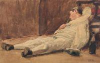 Hendrikus Matheus Horrix (Dutch, 1845–1923), Pierrot's Dream