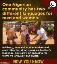 13 Wild, Little-Known Quirks In Languages From Around The World - Ubang