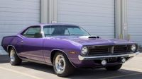 70 Plymouth Barracuda in plum crazy