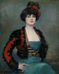 Ramón Casas i Carbó - Portrait of Julia Peraire, the artist's wife (1915)