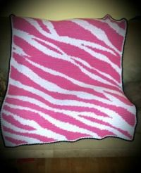 Pink Zebra blanket