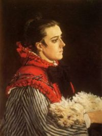 Claude Monet - Camille with a Small Dog, 1866 (May17P08)