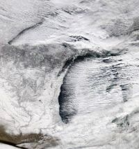 Lake Effect Satellite Image