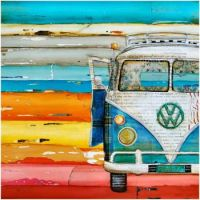 ART PRINT Canvas with Volkswagen Van