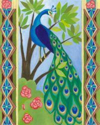 Peacock door (medium)