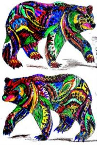 Forrest Animals Coloring Bears