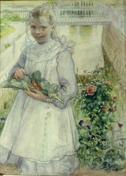 "Carl Larsson, ""In the Garden"""