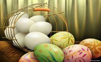 Easter Eggs metal basket