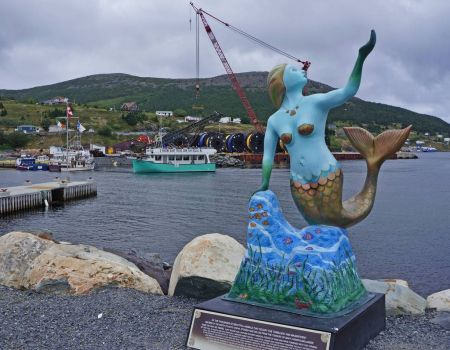 Mishell, the Mermaid; Bay Bulls, NL, Canada