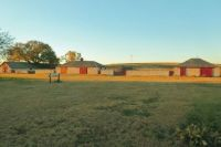 Outbuildings On The Cottonwood Ranch At Sundown