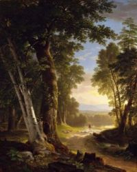 """Asher Brown Durand, """"The Beeches"""", 1845"""