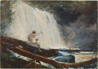 Winslow Homer Waterfall in the Adirondacks (1889)