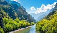 "Themes ""National Parks"" - Greece, Vikos Gorge-main river"