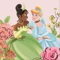 Tiana and Cinderella