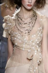 antique beaded gown