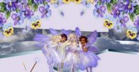 Little fairies and pansies
