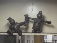 Tom Otterness on the subway