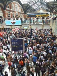 Liverpool St Station, London.  July 2019