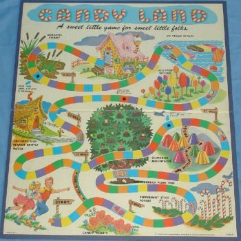 CANDY LAND GAME BOARD  ~  1962