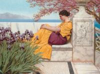 John-William Godward - Under the Blossom That Hangs on the Bough-1917