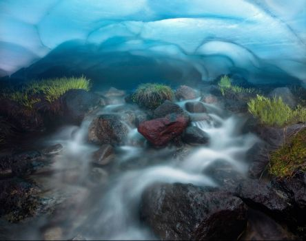 Ice Cave Stream in Oregon