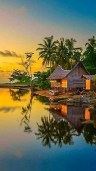 Beach Bungalow Reflections