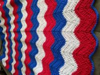 red/white/blue afghan for my neighbor