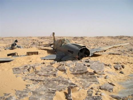 WW II Kittyhawk fighter plane found in the Sahara