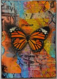 Tie-Dyed Butterfly Poster