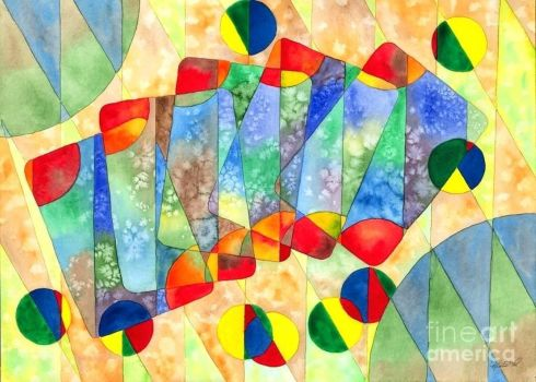Poker Abstract Watercolor