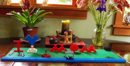 Leggo Mom's Day gift made by my 9 yo grandson Aedon