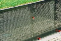 Memorial Day, Section of Vietnam Memorial Wall