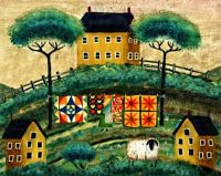 Sheep Folk Art  by Cheryl Bartley