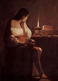 Georges de La Tour: Magdalena penitente de la lamparilla, 1640